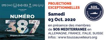 samedi 03/10/2020 à 20H : projection « #387 : Numéro 387 disparu en Méditerranée » documentaire
