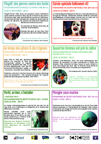LES RENCONTRES DE LA CINEMATHEQUE  2020-2021