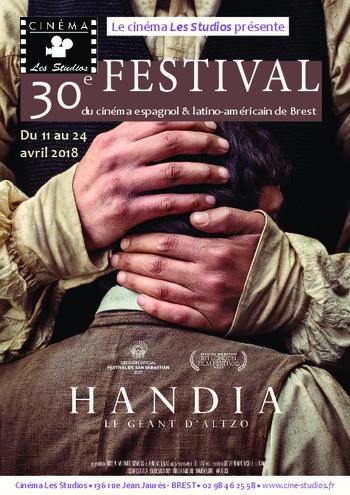 du 11 au 24 avril 2018 : 30ème Festival  du Cinéma Espagnol & Latino-Américain de Brest.