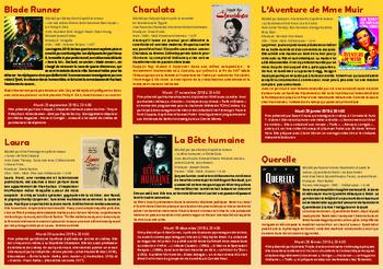 Cycle Films du Répertoire 2018-2019 Cinéma et Littérature en collaboration avec la librairie DIALOGUES.