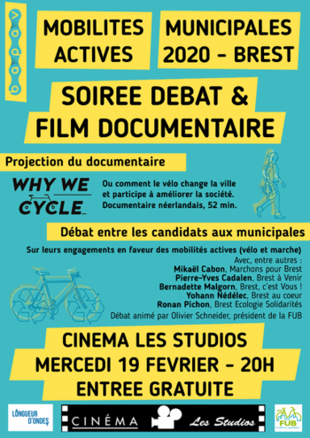"mercredi 19/02 à 20H : projection ""Why we cycle"" documentaire 52mn"