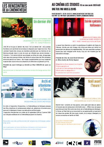 """mardi 17/09 à 20H15 : projection """"UN DERNIER ETE"""" séance dans le cadre LES  RENCONTRES DE LA CINEMATHEQUE"""
