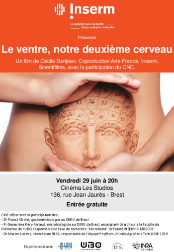 """vendredi 29/06 à 20H : projection """"LE VENTRE, notre deuxième cerveau"""" (un film de Cécile Denjean) à l'issue de la séance ciné/débat."""