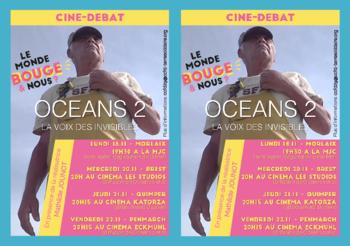 """mercedi 20/11 à 20h : projection """"OCEANS LA VOIX DES INVISIBLES"""" en présence de Mathilde JOUNOT, réalisatrice."""